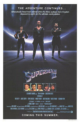 SUPERMAN 2 original ADVANCE 1sheet movie poster CHRISTOPHER REEVE/TERENCE STAMP