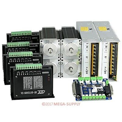 CNC Kit 4 Axis 0.2-5A TB6600HG Stepper Driver 2.5Nm 354oz-in Nema23 36V10A Power