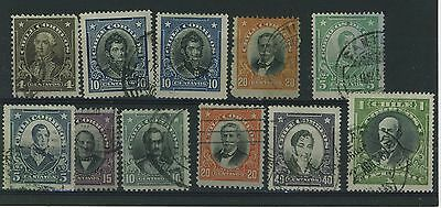 Chile - 1911 Portraits - Used