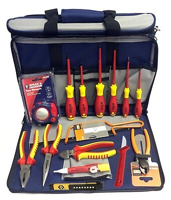Eclipse, Bahco, Ck, Avit & Wiha Electricians Tool Kit In Tool & Laptop Bag Case