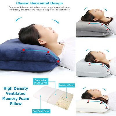 Deluxe Visco Contour Elastic Ventilate Memory Foam Pillow Vertebra Care Home Bed
