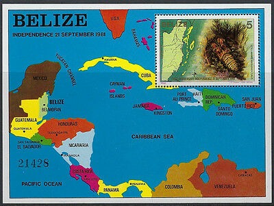 BELIZE : 1982 First Anniversary of Independence Min Sheet  SGMS700 MNH