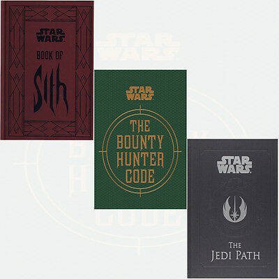 Star Wars 3 Books Collection Set Jedi Path,Book of Sith,Bounty Hunter Code NEW