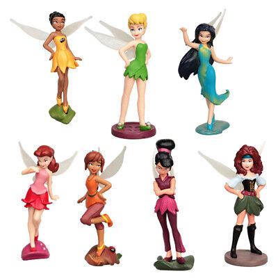 7pcs Tinkerbell PVC Figures Fairy Princess Birthday Cake Toppers Figurine Toys