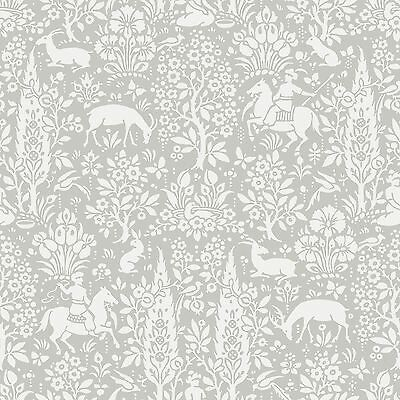Archives Woodland Wallpaper Grey - Crown M1168 Floral New