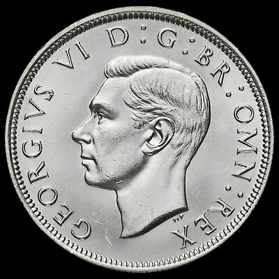 1938 George VI Silver Half Crown, Scarce, A/UNC #2
