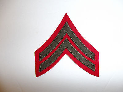 b2047s USMC Chevron 1894-1920's WW1 Corporal Rank winter single red/green R6E