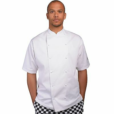 Le Chef Original Short Sleeve Chefs Jacket XXS -5XL underarm StayCool System
