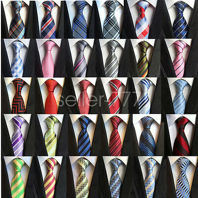 Elgance Fashion Mens Silk Tie Necktie Colorful Striped JACQUARD WOVEN Neck Ties