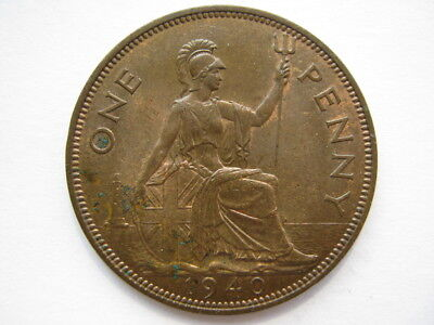 1940 George VI Penny EF double exergue #1