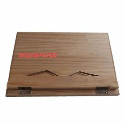 Wooden Paper Book File Stand Holder Rest Laptop Reading Foldable Adjustable New
