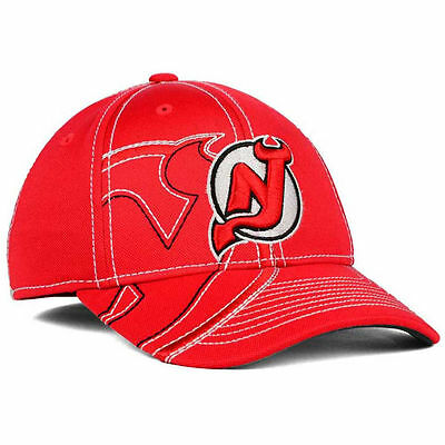 f25602e2ac3 ... greece new jersey devils 14 nhl draft spin flex cap hat lid red hockey  reebok mens