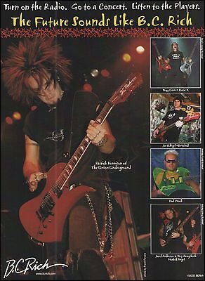 The Union Underground Static X Switched Morbid Angel B.C. Rich Guitars 8 x 11 ad