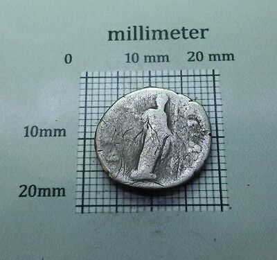 Original Antique Coin SILVER DIVA FAUSTINA Major ROMAN DENARIUS AD 138-141 #0796