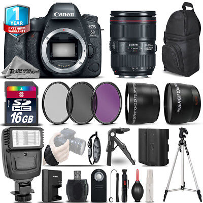 Canon EOS 6D Mark II DSLR Camera + 24-105mm USM + 1yr Warranty -  Saving Bundle