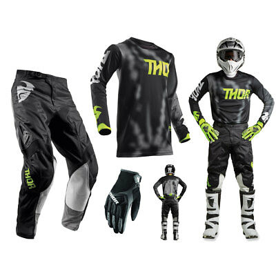 Thor Pulse Air Radiate Combo schwarz Crosshose Motocross Shirt MX Handschuhe