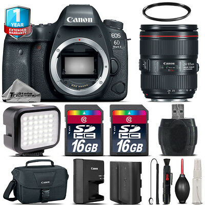 Canon EOS 6D Mark II Camera + 24-105mm + LED + CASE +EXT BAT +32GB +1yr Warranty