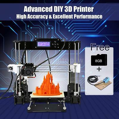 Anet A8 High Precision Desktop 3D Printer Support ABS//PLA//HIPS w// 8GB Card A7U0