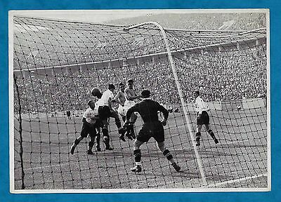 1936 Berlin Olympics Large German Cigarette Card Scene From Football Final