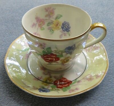 Theodore Haviland Jewel Demitasse Cup and Saucer Set