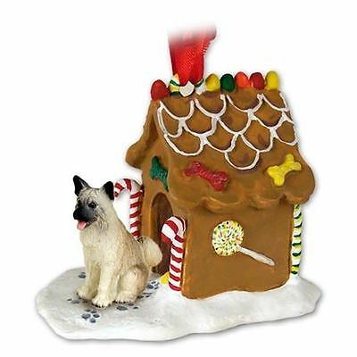 AKITA Fawn Dog Ginger Bread House Christmas ORNAMENT