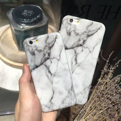 Granite Marble Pattern Rubber Soft Gel Phone Case Cover for iPhone X 6 6s Plus