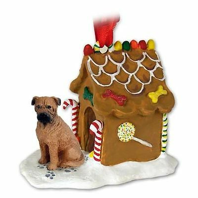 BULLMASTIFF Dog Ginger Bread House Christmas ORNAMENT