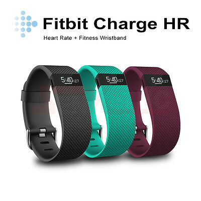 Black/Teal/Plum Fitbit Charge HR Heart Rate + Activity Band Wristband Bluetooth