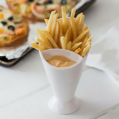 Snack Cone Stand Cup Remove Dip Holder Fries Chips Food Vegetable Container Nice