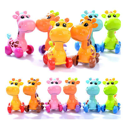 Cute Q Plastic Wind Up Clockwork Running Animal Giraffe Boys Girls Kids Toy Gift