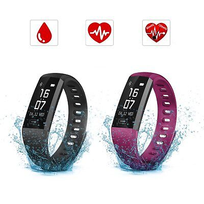 SAVFY Fitness Tracker Smart Sports Armband Wasserdicht Pulsuhr Blutdruck Uhr