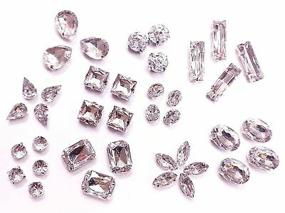 Acrylic Sew on MONTEES Faceted Crystals, Rhinestones, Diamantes, Dress Making