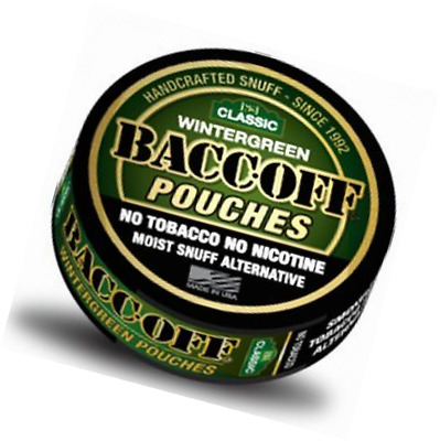 BaccOff, Gen II Wintergreen Pouches, (5 Cans)