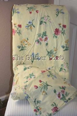 Vintage Springs Twin Sheet Set Yellow Floral Shabby Cottage Chic Material B14