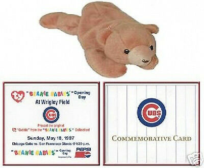 TY Beanie Baby Cubbie BEAR 5/18/97 1st SPORTS COMMEMORATIVE Chicago Cubs OPENING