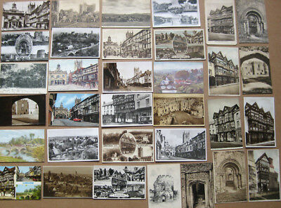LUDLOW,Shropshire Job Lot of 45 x Old Postcards, 1900-60s, Mostly Pre 1930s