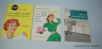 3 Vintage Sear's Kenmore Manuals & Guides. Laundry Dryer Washer. LOOK!