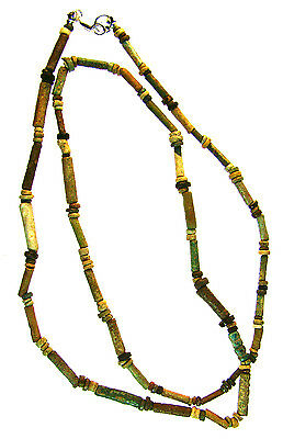 Egyptian Mummy Bead Necklace Restrung, Beads circa 600-300 BC or Earlier