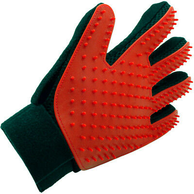 Pet Grooming Glove Deshedding Brush Fur Remover Mitt for Dog Cat (Left Hand)