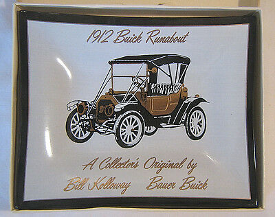 Nice  Vintage 1912 Buick Runabout Glass Trinkit Ashtray Tray - Bauer Buick