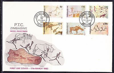 Zimbabwe 1982 Rock Paintings First Day Cover