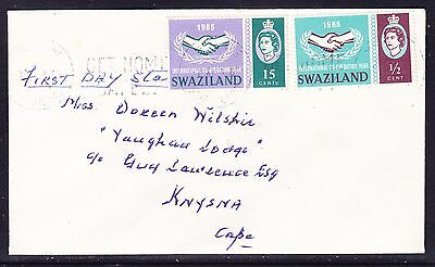 Swaziland 1965 International Co-op Years  First Day Cover