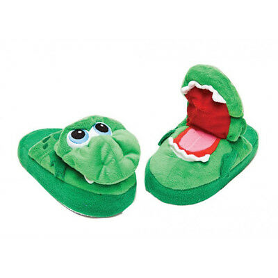 Stompeez Children Growling Dragon Green Cute Slipper Shoes - 72519 - Small 9-11