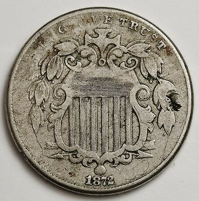 1872 Shield Nickel.  V.G.  100609