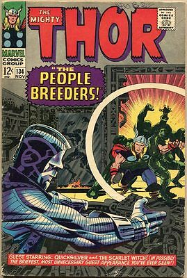 Thor #134 - VG - 1st Full Appearance Of The High Evolutionary
