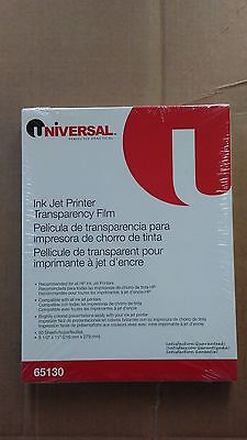 Unopened #65130 Universal Transparency Film for Color Ink Jet Printer-50 Sheets