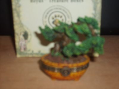 Boyds~Hinged ~TREASURE BOX #392170~MS. WANG'S BONSAI TREE ~1E NIB w/one Surprise