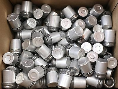 Kodak Metal Film Cans Set of 50 1960's silver 35mm screw top geocaching