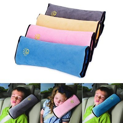 Kids Car Safety Strap Cover Pillow Head Shoulder Seat Belt Pad Child Cushion