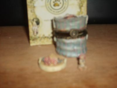 Boyds Bears Uncle Bean's Treasure Box #955 Chanel's Hat Box Complete #392108V